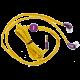 Optimum In-Ear Headphone Funny Shoelace (Ochre Yellow/Purple)